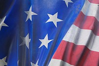 Blue, Fold, Fabric, Close-Up, American Flag (thumbnail)