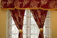 window, curtains, drapes, fabric, design, pattern