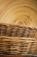 Cane, Indoors, Appearance, Arrangement, Basket, Brown
