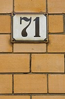 Address, Metal, Brick Wall, 71
