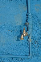 Blue, Close_Up, Day, Faucet, Metal
