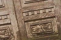 Figures, ancient, wooden, wood, door, wooden door (thumbnail)