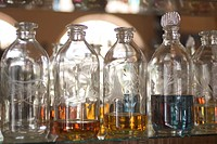 Bottle, Close_Up, Group Of Objects, In A Row