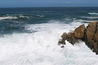 Rocks, stone, hard, wave, sea, ocean (thumbnail)