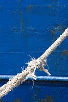 Blue, Boat, Close_Up, Damaged, Day