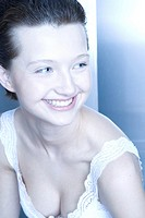 young woman smilling