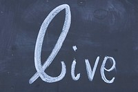 Blackboard, Chalk, Close_Up, Live