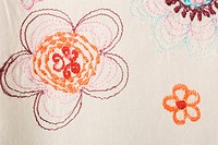 Close_Up, Design, Embroidery, Floral Pattern, Full Frame