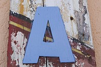 Blue, Close_Up, Capital Letter, Alphabet