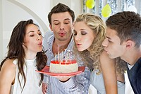 Friends celebrating birthday (thumbnail)