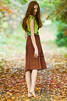 Autumn portrait of young woman (thumbnail)