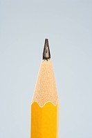 Close up of sharp pencil tip