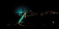 bridge, building, night, frontview, nightview, scenery, city