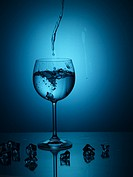 wine glass, house item, light, water, glass
