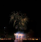 City, fireworks, landscape, scenery, river, city scenery, night (thumbnail)