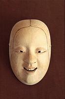 Japan, Niigata Prefecture, Sado island, Noh mask