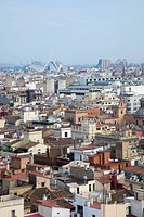 Panoramic view of Valencia, With 'La ciudad de las Artes y las ciencias' at the back