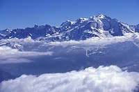 Cloud, Landscape, mountain, mountainside, Snow, Blue, sky (thumbnail)