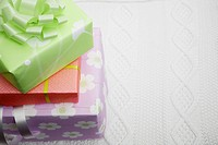 Stack of gifts close-up (thumbnail)