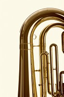 Close_up of tuba