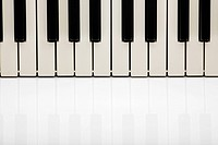 Piano keys close_up