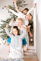 children playing during Christmass