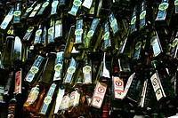 Wine bottles for sale in a liquor store, Sao Paulo, Sao Paulo State, Brazil