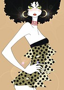 Young woman in polka dot dress (thumbnail)
