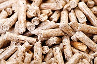 Wood pellets, full frame, close_up