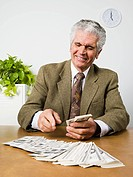 Man counting banknotes