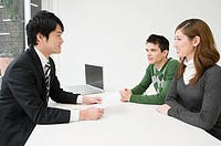 Businessman in a meeting with clients