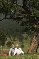 Austria, Karwendel, Senior couple in the countryside (thumbnail)