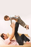Father and son 4_5, fooling about