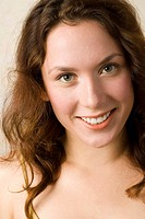 Young woman, Smiling, portrait, close up