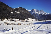 Austria, Tyrol, St. Jakob im Pillertal, Lofer mountains, Cross_country ski run