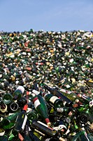 Landfill site, Bottles, close up