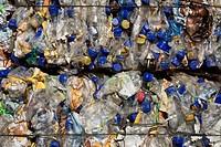 Landfill site, Plastic waste, full frame