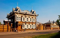 Russia. Irkutsk. Renovated 19th Century Home
