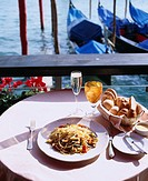 Italian food, Spumante, Sparking wine, Venice, Italy