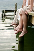 Legs, relaxing, lakeside, gentle, jetty, cutout, a (thumbnail)