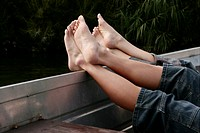 Feet, legs, relax, beauty, cut out, ship, female (thumbnail)