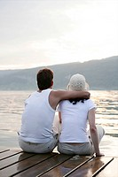 couple, harmony, together, bright, love, lake, por