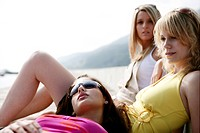 Girlfriends, sunbathing, outdoor, relax, portrait (thumbnail)