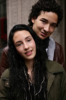 teenage couple, girl, boy, happy, in love, portrai