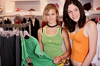 teenagers, girls, shopping, smiling, t_shirt, teen