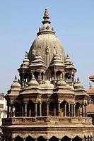 Nepal, Kathmandu Valley, Patan, Durbar Square, Chyasin Dega Krishna Temple