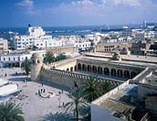 Grand mosque, City View, Mediterranean Sea, Medina, port, Sousse, Tunisia, World Heritage