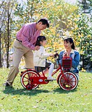 Autumn, Bicycle, Family, Japan