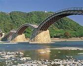 Kintai bridge, Nisikigawa, Iwakuni castle, place of scenic beauty, Iwakuni, Yamaguchi, Japan