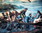 The Miraculous Draught of Fishes´. Raphael Raffaello Santi 1483_1520 Italian painter. Gouache.